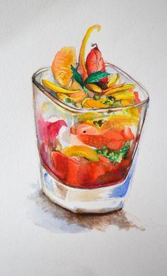 dessert - watercolour Giulia Silvestri