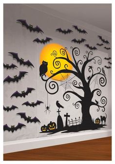 Many of the decoration above are easy to find. You can also painting the Halloween decoration by yourself. The Halloween decoration mostly doesn't look creepy, yet looks fun. So, it is a good idea to make a party in your house with the Halloween concept. Disfarces Halloween, Halloween Classroom Door, Moldes Halloween, Adornos Halloween, Manualidades Halloween, Halloween Door Decorations, Halloween Party Supplies, Halloween Displays, Halloween Themes