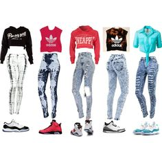 crop tops with skinny jeans and jordans - Google Search