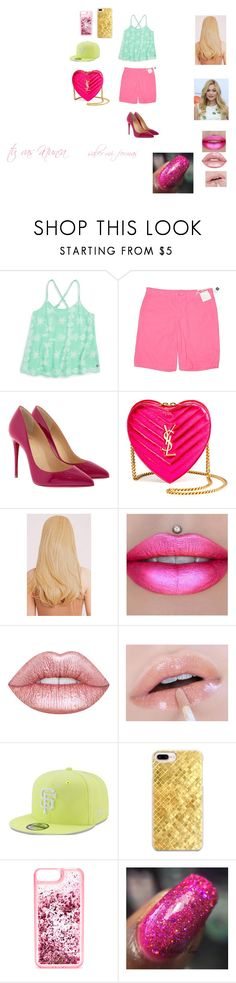 """star new outfit"" by miliorobb on Polyvore featuring Gap, Christian Louboutin, Yves Saint Laurent, Jeffree Star, Lime Crime, New Era, Casetify and ban.do"