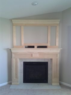 DIY Fireplace Makeover 2019 Execellent photo of architectural interest added to fireplace could add additional moulding according to your tastes. The post DIY Fireplace Makeover 2019 appeared first on Building ideas. Fireplace Update, Home Fireplace, Fireplace Remodel, Fireplace Surrounds, Fireplace Design, Fireplace Ideas, Fireplace Makeovers, Faux Fireplace, Mantle Ideas