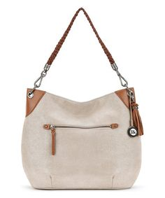 Loving this Nude Sparkle Indio Leather Hobo on #zulily! #zulilyfinds