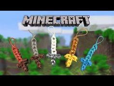 Rainbowloom minecraft sword - YouTube