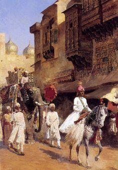 """Edwin Lord Weeks. """"Ceremonia y desfile de un príncipe hindú"""". Las aventuras viajeras de Edwin Lord Weeks (1849 – 1903) http://eldibujante.com/?p=9380  PINTURA Y PAGNA. DIVINA."""
