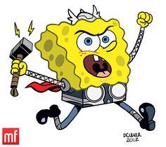 The Nicktoon Avengers: SpongeBob ThorPants