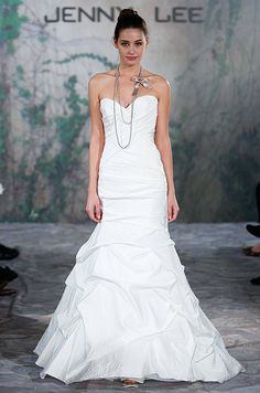 Trumpet silhouette wedding dress from Jenny Lee, Fall 2013.