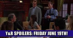 Y&R Spoilers: Friday May 19th! It's Fathers Day in GC! Check more at https://soapshows.com/young-and-restless/spoilers/yr-spoilers-friday-may-19th