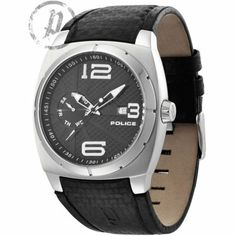 Police - Mens Black Leather Strap Eclispe Watch - 12675JS-02  RRP: £149.00 Online price: £89.40 You Save: £59.60 (40%)  www.lingraywatches.co.uk Police Watches, Gents Watches, My Father, Smart Watch, Quartz, Black Leather, Stainless Steel, Band, Online Price