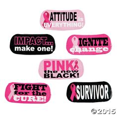 Pink Awareness Ribbon Face Tattoos 6 Pk Party Supplies Canada - Open A Party