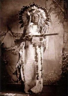 Mato Ska/White Bear- a chief of the Lower Yanktonais at Standing Rock-The name Mato Ska/White Bear also  appears in the 1885 records-There he is listed in Chief Eagle That Scares band of the Lower Yanktonais-photographed by Frank Fiske in 1901