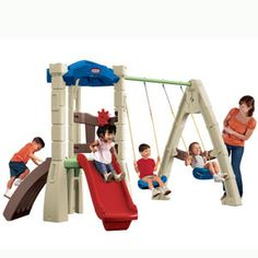 Lookout Swing Set from #littletikes - new colors for spring!