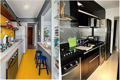 Cozinha corredor bem distribuída - 12