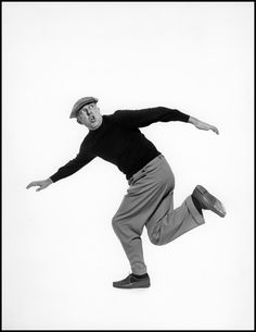 Jacques TATI. French actor, film producer and director. Photographer, Philippe Halsman, 1954, Paris.