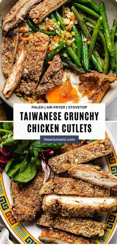Taiwanese Fried Chicken Cutlets with super crunchy coating and yummy! Whether you pan fry or air fry, this recipe shows you how to make the best chicken cutlets easily! #chickencutlets #airfryerrecipe #taiwaneserecipes #whole30chickenrecipes #ketochickenrecipes Best Paleo Recipes, Meat Recipes, Asian Recipes, Real Food Recipes, Summer Recipes, Turkey Recipes, Paleo Meal Prep, Paleo Meals, Paleo Dinner