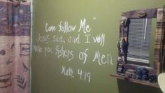Fishing Theme in bathroom..add a bible verse on the wall with a little paint and fancy writing!- little boys room