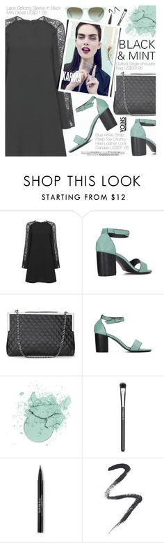 """""""Yoins 25:Black&Mint"""" by pokadoll ❤ liked on Polyvore featuring The Row, MAC Cosmetics, Trish McEvoy, Topshop and yoins"""