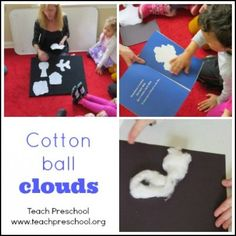 Talking about clouds with preschoolers {lesson plan ideas} from www.teachpreschool.org