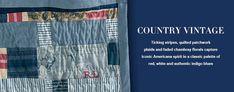 Country Vintage - Fabric - Products - Ralph Lauren Home Ralph Lauren Fabric, British Summer, Ticking Stripe, Vintage Country, Stitches, Indigo, Blues, Fabrics, Stripes