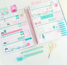 Planner Ideas & Accesories ❤ Horizontal EC layout by @filoally