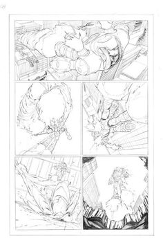 Pencils from HAVOC BRIGADE graphic novel. Coming out in July in print and digital!