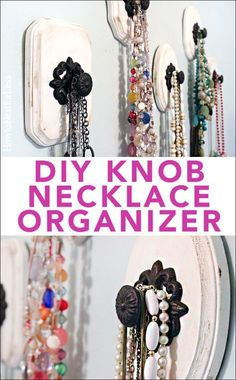 Easy to make knob necklace holders. Even I can do this!!
