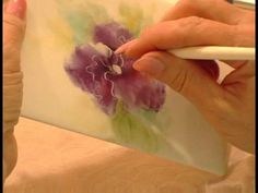 How to Paint Porcelain : Using Wipe Out Tools to Shape Flowers in Porcelain Paintings 4
