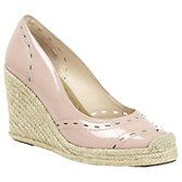 LK Bennett West Patent Wedge Sandals, Rose