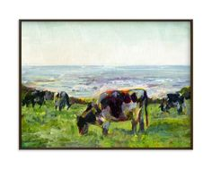 """""""Marin Cows"""" - Art Print by Alex Elko Design in beautiful frame options and a variety of sizes."""