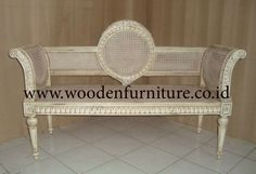 Antique Wooden Sofa   Antique Reproduction Rattan Sofa Classic Bench French Style Chair Cane ...