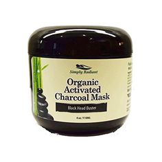 Simply Radiant Beauty Organic Activated Charcoal Mask Fights Acne Detoxifies and Unclogs Pores Gets Rid of Blackheads 4 Oz *** You can find out more details at the link of the image.