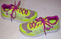 Under Armour Spine Lazer Volt 4D Foam Athletic Running Sneakers Shoes Womens 6.5 #UnderArmour #RunningCrossTraining