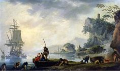 Claude-Joseph Vernet - The Return of the Fishermen in a Coastal Landscape,1740