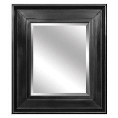 Yosemite Home Black Framed Wall Mirror
