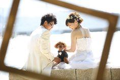 森と水のウエディングリゾート エクセレントガーデン迎賓館|結婚式場写真「洋装前撮り海ロケ」 【みんなのウェディング】