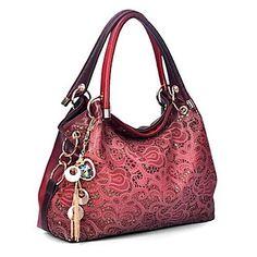 2018 Hot Selling Women Leather Handbag Hollow Out Bags Designer Handbags High Quality Shoulder Bag Bolsos Bolsas Femininas Fashion Handbags, Fashion Bags, Fashion Women, Female Fashion, Large Leather Tote Bag, Large Tote, Big Bags, Shoulder Handbags, Shoulder Bags