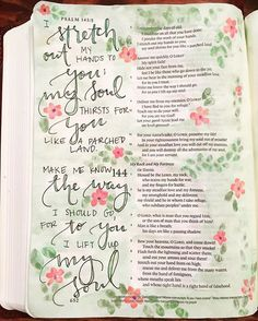 I'm so in love with this #biblejournaling page I finished in a bible I sent to a friend, I pray that she finds comfort and peace in this verse and the scriptures! I can't lie, I was sad to say goodbye to this beautiful page! But I truly believe that God used my hands to create this lovely reminder to a lovely beautiful woman. It was such a blessing to ME to be able to provide her a new bible and a little artwork too. #biblelettering #joyfulwordart #watercolor #painting #lettering…