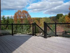 Aluminum glass railing - unobstructed views!