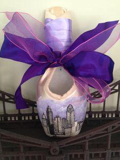 Custom City Skyline Handpainted Pointe Shoe by Ballet In Cleveland on Etsy: https://www.etsy.com/listing/181907030/custom-city-skyline-handpainted-pointe