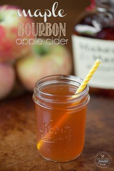 This Maple Bourbon Apple Cider is a fantastic fall and holiday cocktail. Keep it warm in your slow cooker or bring it along to the game in a thermos.