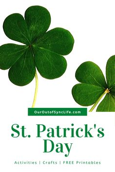 St. Patrick's Day Activities, Crafts, and Free Printables to teach children about St. Patrick, the Trinity, and the true meaning of rainbows.    #OurOutofSyncLife #StPatricksDay #trinity #preschoolBible #rainbows