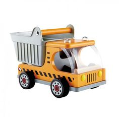 Hape - Dumper Truck: A must for any construction to begin is with this Dumper truck to transport materials. Fuel imagination by allowing the child to tell what is being transported. #alltotstreasures #hapedumpertruck #imaginativeplay #constructionplay #dumpertruck #yellowdumpertruck