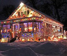The only decorated house on the block, this home makes up for its less dressed neighbors. Located in Madison, Wisconsin, the house is packed with thousands of lights to warm up a chilly college town.