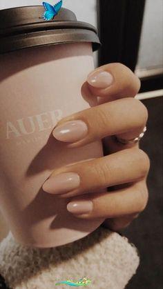 Beauty  <br> Short Almond Nails, Almond Shape Nails, Natural Almond Nails, Short Almond Shaped Nails, Short Nails, Long Nails, Natural Nail Polish, Ombre Nail Designs, Nail Polish Designs