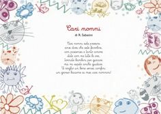poesia per i nonni – Anushka Shaikh Happy Dad Day, My Teddy Bear, Nursery Rhymes, Paper Flowers, Homeschool, Place Card Holders, Journal, Education, Cards