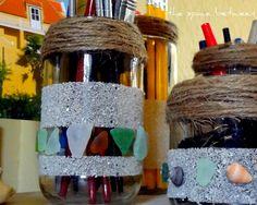 12Apr twine sand sea glass jars