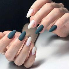 Matte color nail art