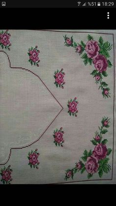 Discover thousands of images about This Pin was discovered by Rey Embroidery Needles, Hand Embroidery, Prayer Rug, Graph Paper, Save Yourself, Cross Stitch Patterns, Diy And Crafts, My Favorite Things, Floral