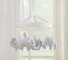 Flying Elephant Mobile | Pottery Barn Kids