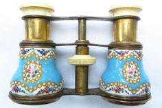 C1890 Victorian Enamel Opera Glasses No Reserve Vintage Antique | eBay