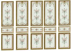 Victorian Wall Panels Wallpaper 1 12th or 1 by miniaturecorner